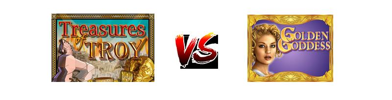 Treasures Troy vs Golden Goddess