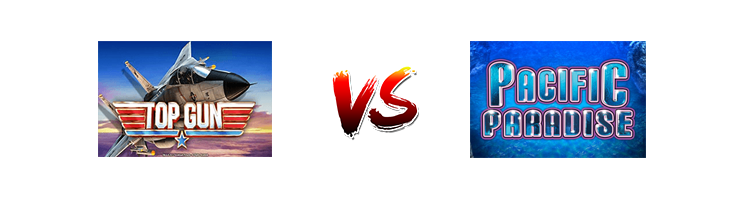 Pacific Paradise Slot contro Top Gun Slot: recensione e guida